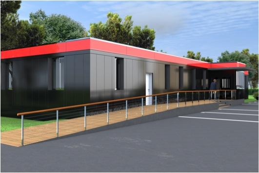 Construction d'un bâtiment modulaire par nanearchi